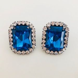 Jewelry - Electric Blue Gem Earrings